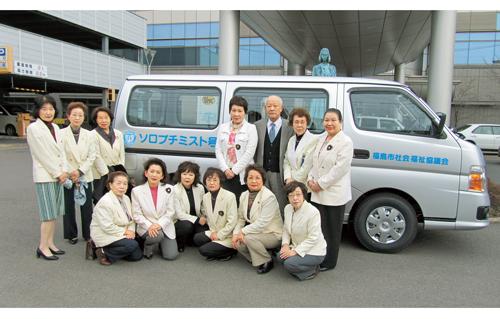 東日本大震災直後の日 贈呈式